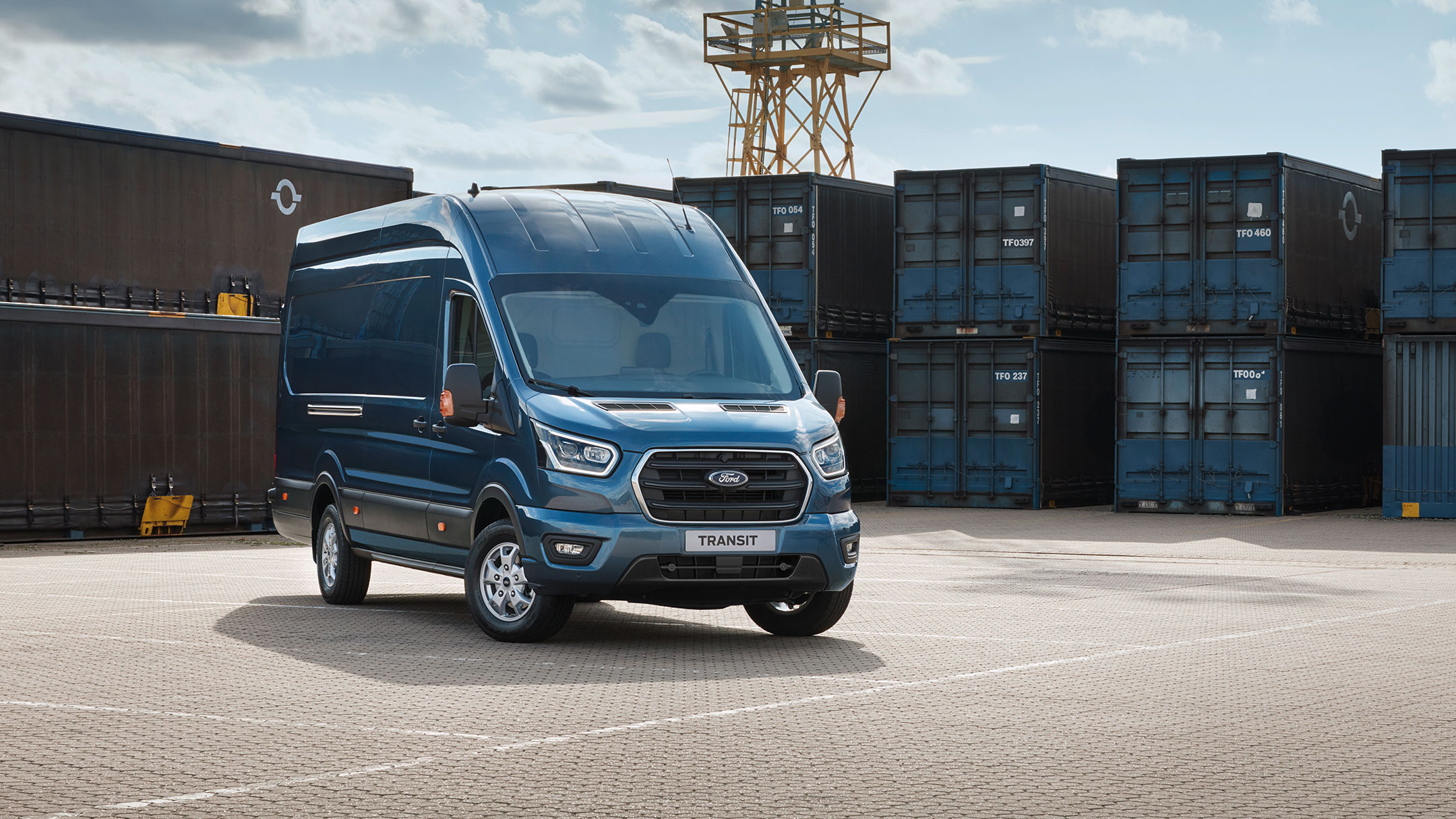 New Ford Transit Van Trail front view parked
