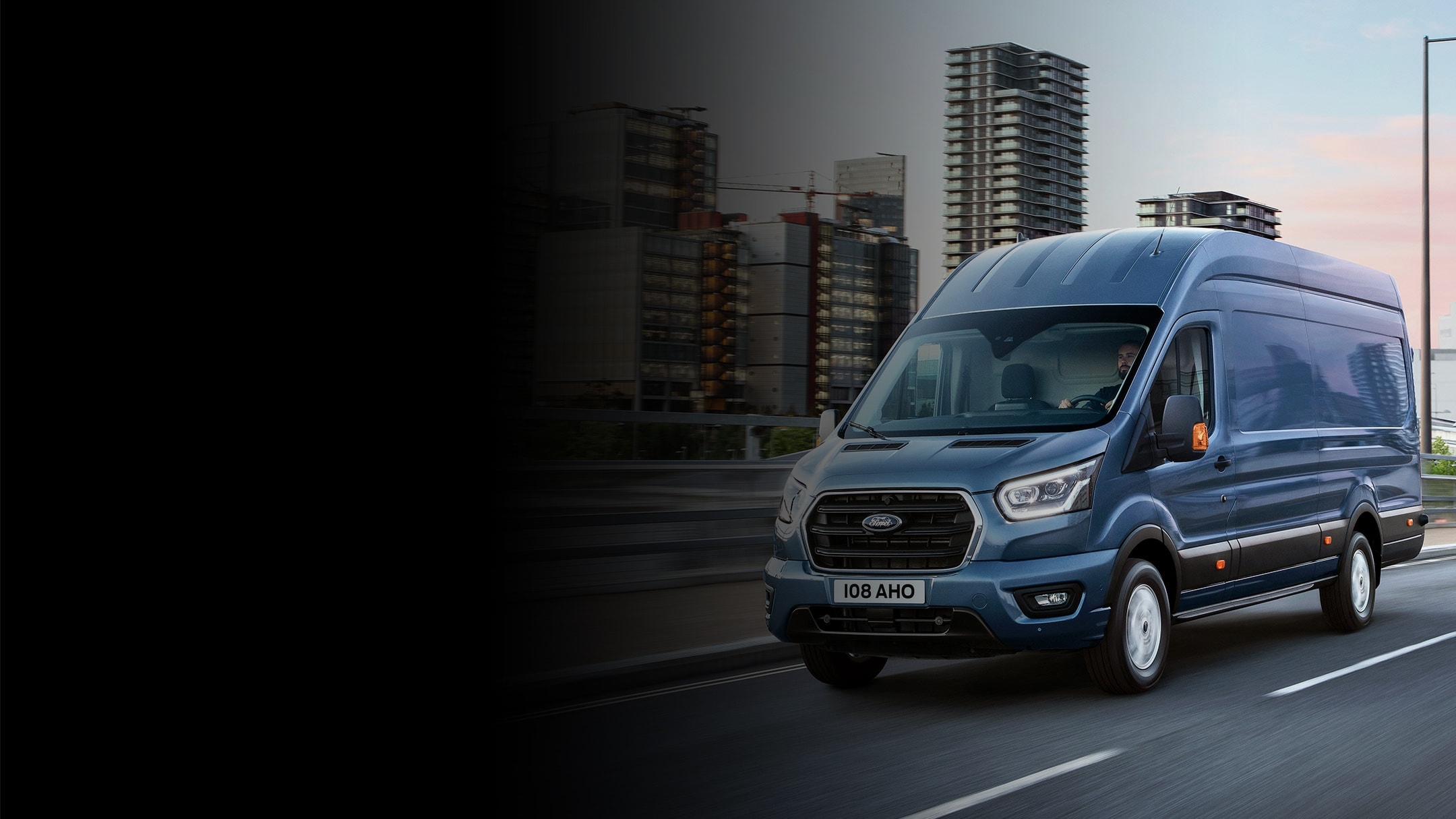 Ford Transit Van driving in city