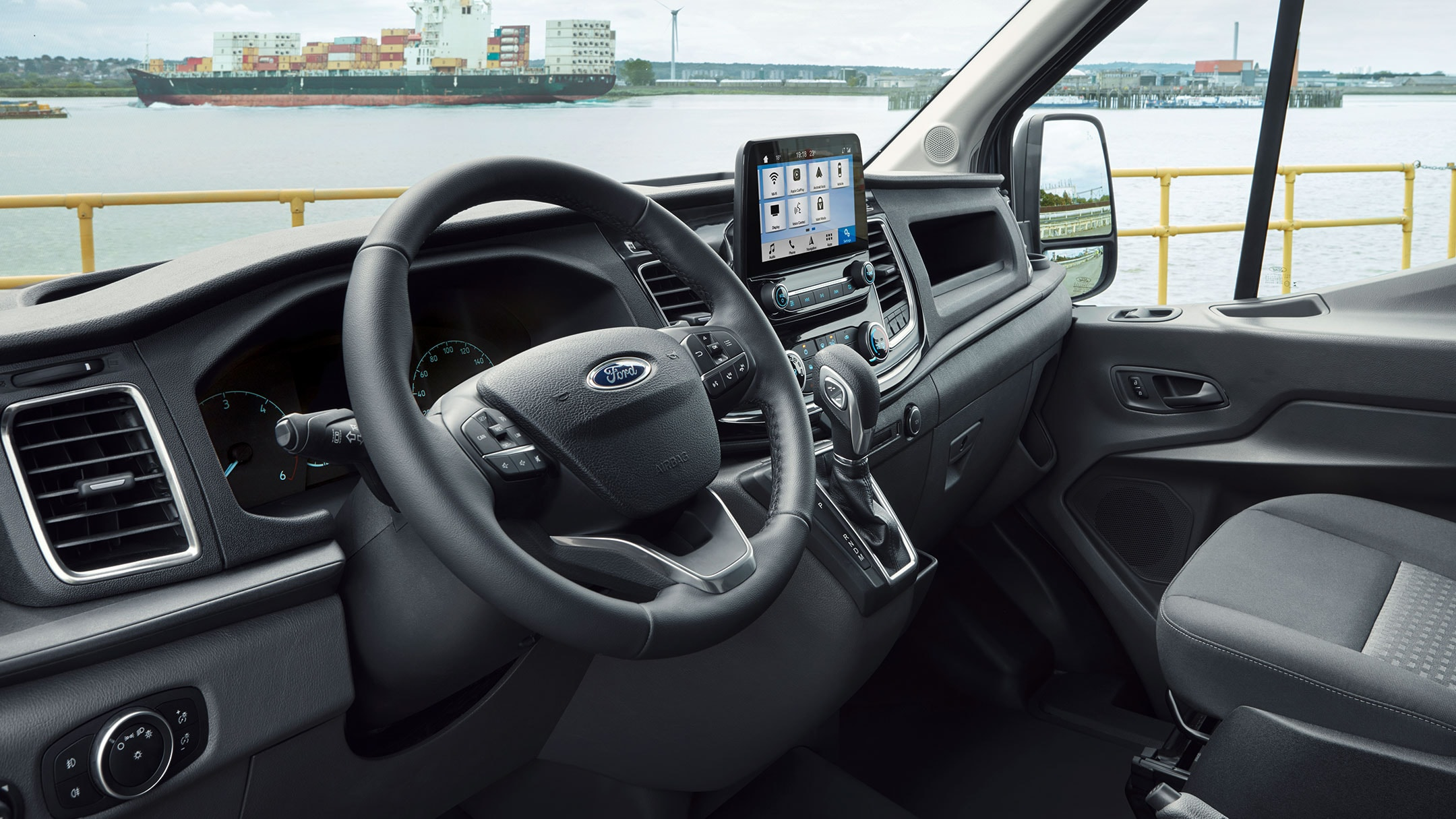 New Ford Transit Van Trail front interior view